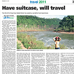 WEEKEND ARGUS TRAVEL FEATURE